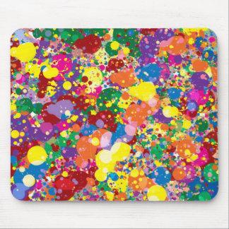 Rainbow Paint Splatter Mouse Mat