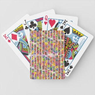 Rainbow Paint Splatter - Vertical Blocks Playing Cards