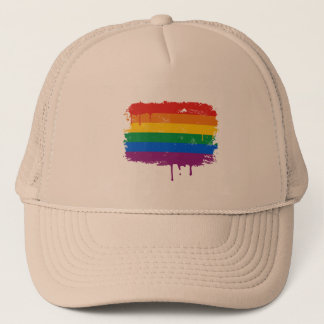 Rainbow Paint Trucker Hat