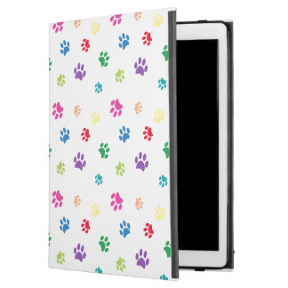 "Rainbow Painted Paw Prints iPad Pro 12.9"" Case"