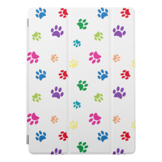 Rainbow Painted Paw Prints iPad Pro Cover