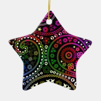 Rainbow Paisley Ornament