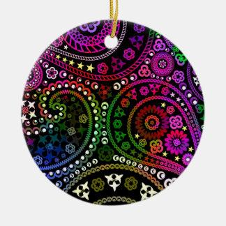 Rainbow Paisley Christmas Ornament