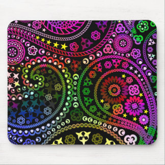 Rainbow Paisley Mouse Mat