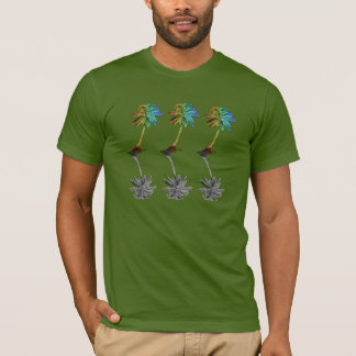 Rainbow Palm Tree Reflections T-Shirt