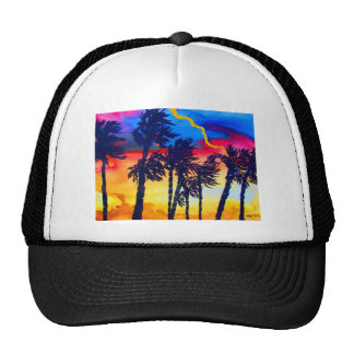 Rainbow Palms Hats