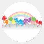 Rainbow PalmTrees Sticker