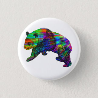Rainbow Panda Bear 3 Cm Round Badge