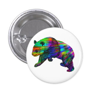 Rainbow Panda Bear 3 Cm Round Badge