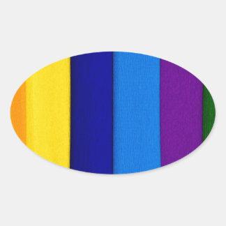 rainbow paper color summer abstract modern art oval sticker