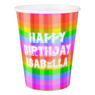 Rainbow Paper Cup