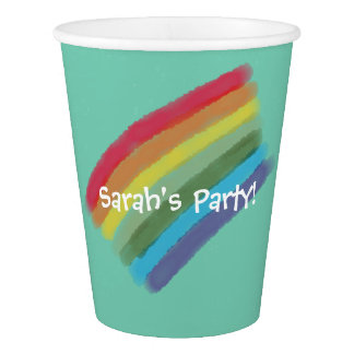 Rainbow Paper Cup - Customize
