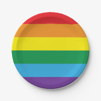 Rainbow Paper Plate