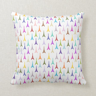Rainbow Paris Eiffel Tower pattern Cushion