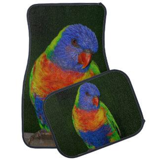 Rainbow Parrot Set of 4 Car Mats