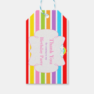 Rainbow Party Gift Tag