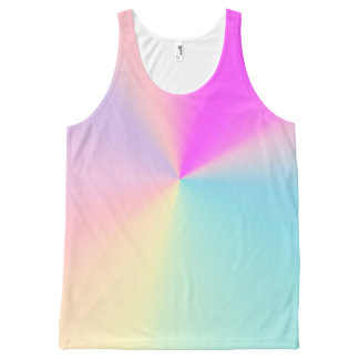 Rainbow Pastel All-Over Print Tank Top