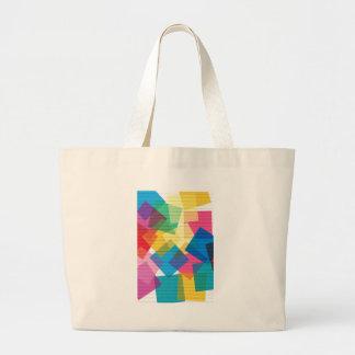 rainbow pastel colors fabric design circles Antiqu Tote Bags