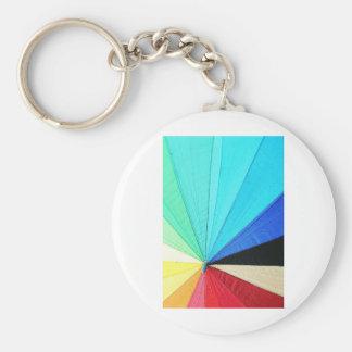 rainbow pastel colors fabric design circles Antiqu Basic Round Button Key Ring