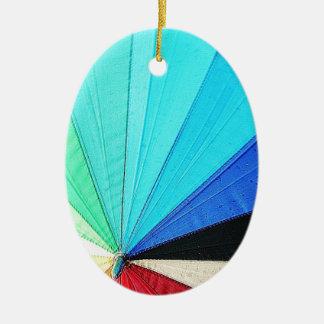 rainbow pastel colors fabric design circles Antiqu Ceramic Oval Decoration