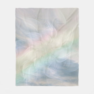 Rainbow Pastel Floral Mandala design Fleece Blanket