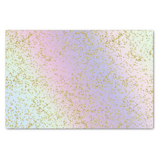 Rainbow Pastel Gold Glitter Fantasy Birthday Party Tissue Paper