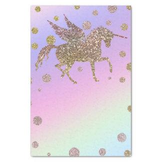 Rainbow Pastel Gold Glitter Unicorn Birthday Party Tissue Paper