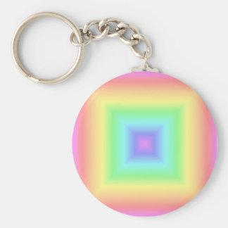 rainbow pastel key ring