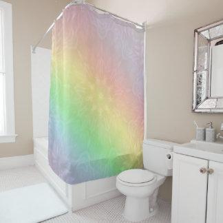 Rainbow Pastel Mandala design Shower Curtain