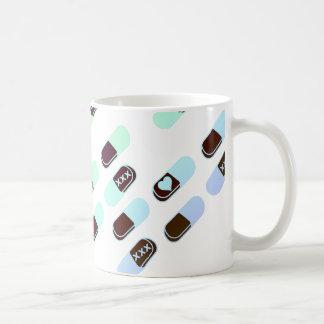 Rainbow Pastel Pills Pattern Basic White Mug