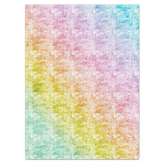 Rainbow Pastels with Graphic Texture Tissue Paper
