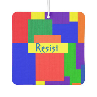 Rainbow Patchwork Abstract Pattern Air Freshener