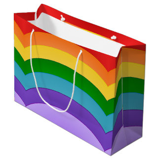 Rainbow Pattern Large Gift Bag