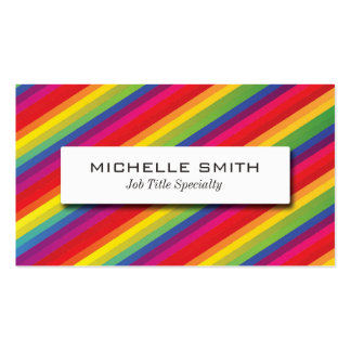 Rainbow Pattern Pack Of Standard Business Cards