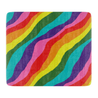 Rainbow Patterns Cutting Board