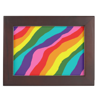 Rainbow Patterns Keepsake Box
