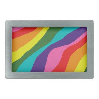 Rainbow Patterns Rectangular Belt Buckle