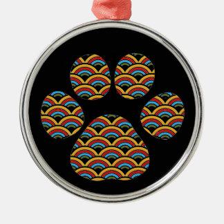 Rainbow Paw Christmas Ornament