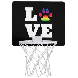 Rainbow paw mini basketball hoop