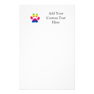 Rainbow Paw Print Customised Stationery