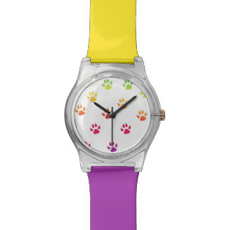 Rainbow Paw Prints Watch