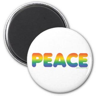 Rainbow Peace 6 Cm Round Magnet