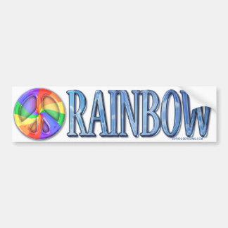 Rainbow Peace Bumpersticker Bumper Sticker