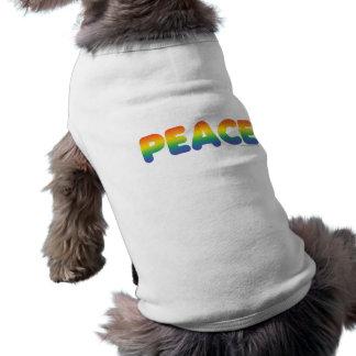 Rainbow Peace Dog Clothing