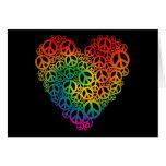 Rainbow Peace Heart Greeting Card