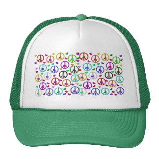 Rainbow Peace Hearts Cap