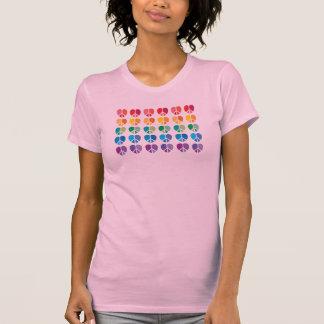 Rainbow Peace Hearts Ladies Camisole T-Shirt