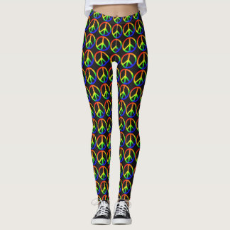 Rainbow Peace Leggings
