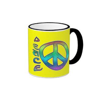 Rainbow Peace Mugs