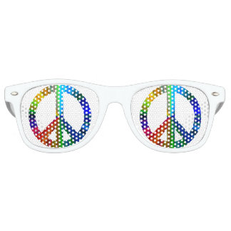 Rainbow Peace Retro Sunglasses